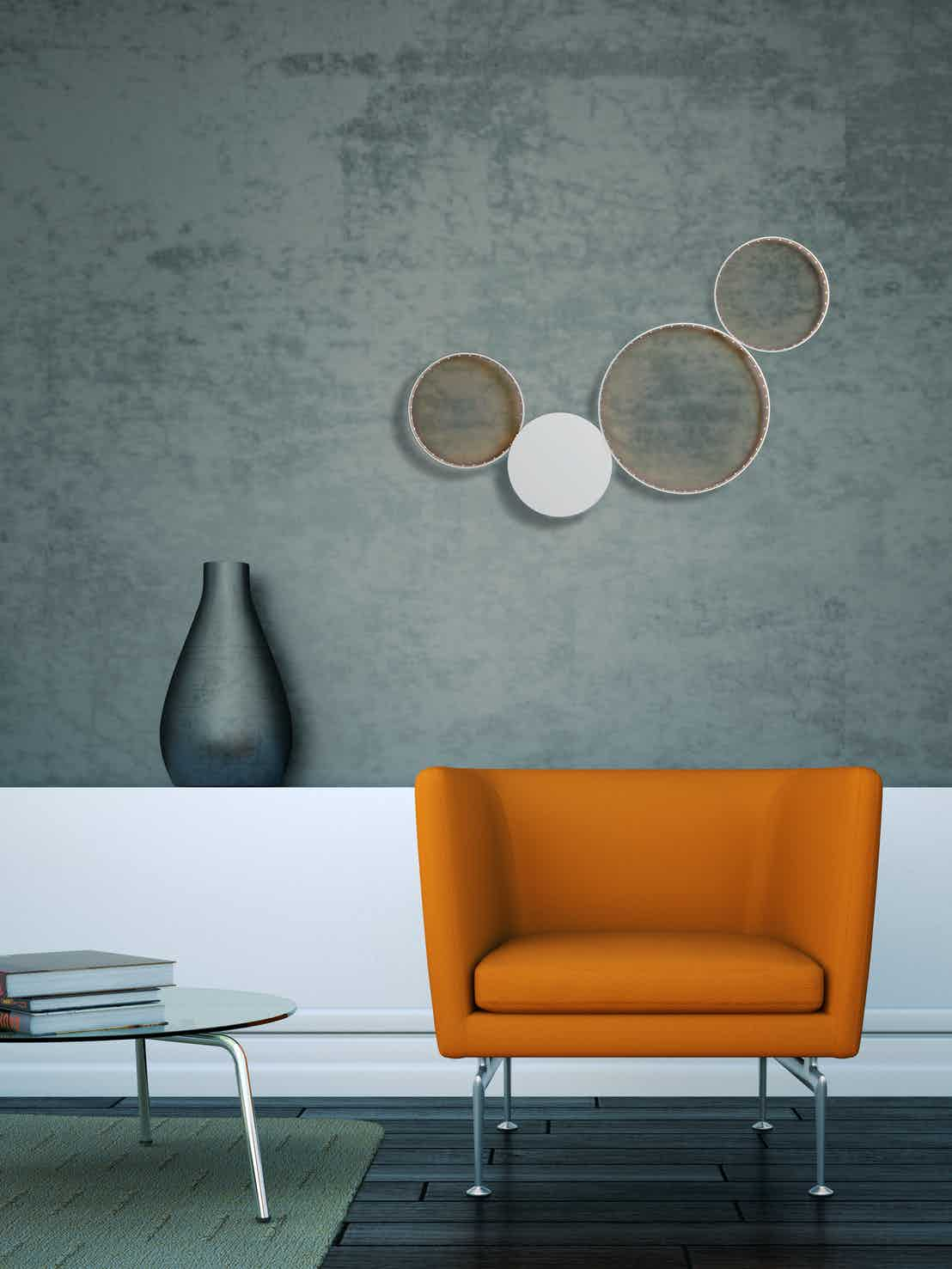 Le-deun-luminaires-sirius-wall-lamp-white-orange-chair-haute-living