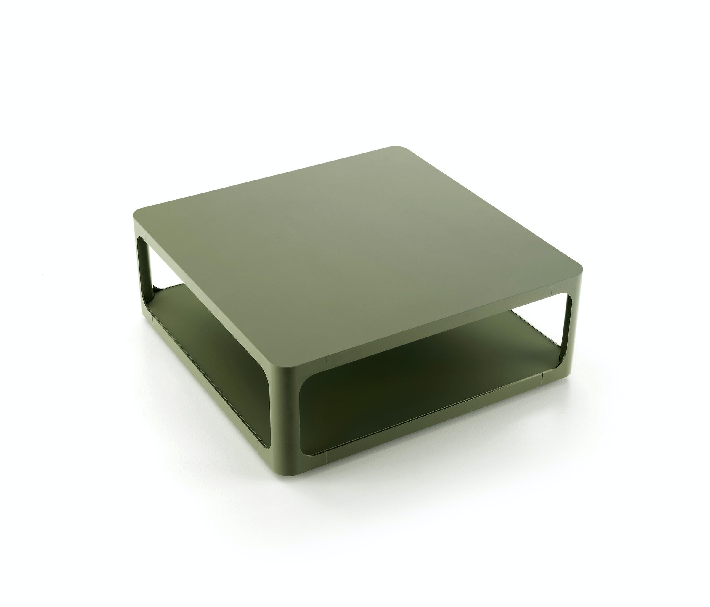 Rimadesio Olive Green Square Coffee Table Haute Living