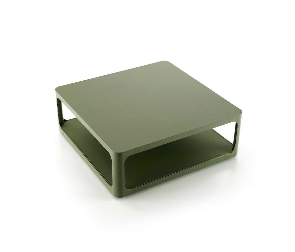Rimadesio Olive Green Square Coffee Table Haute Living