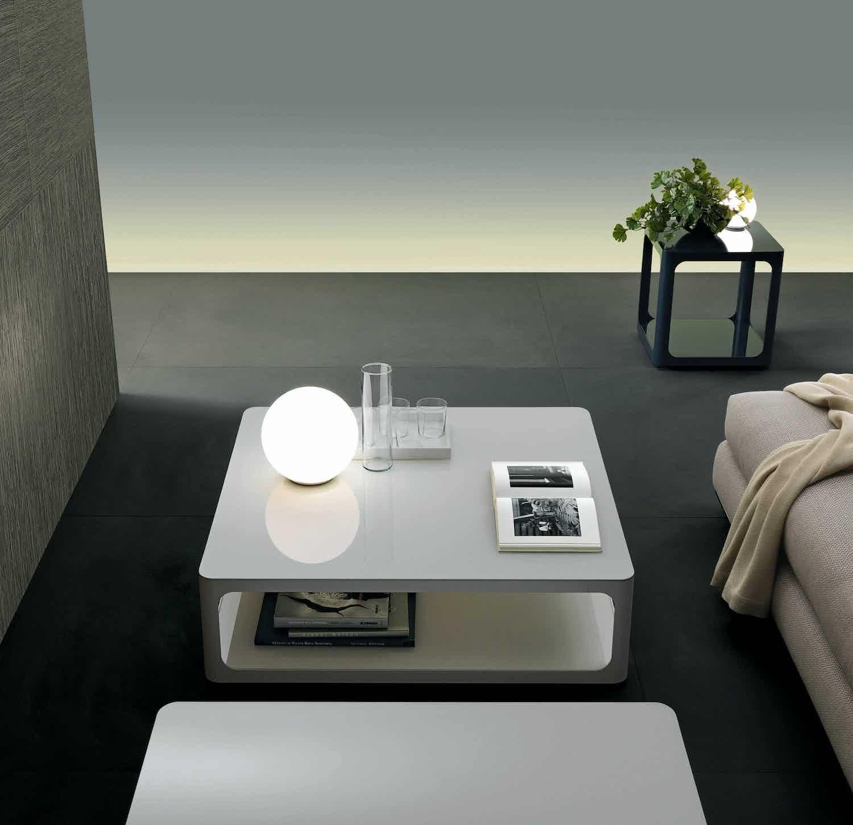 Rimadesio White Square Coffee Table Insitu Haute Living