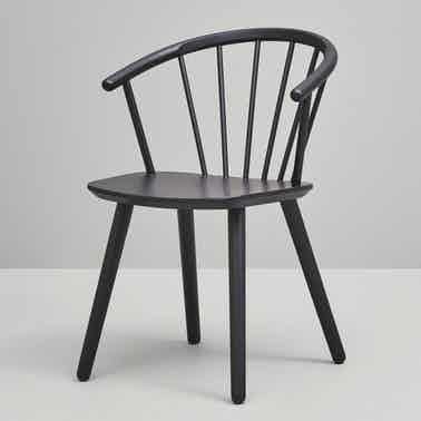Bolia Black Sleek Low Back Dining Chair Haute Living