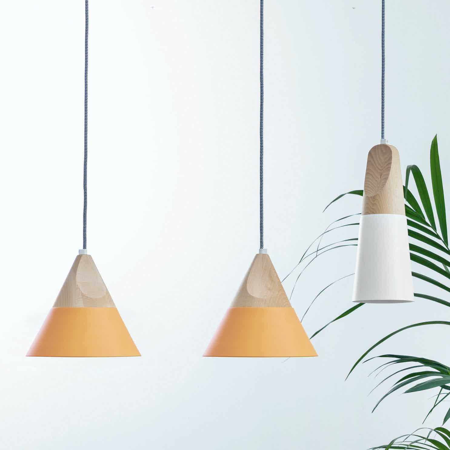 Miniforms Slope Pendant Green Haute Living