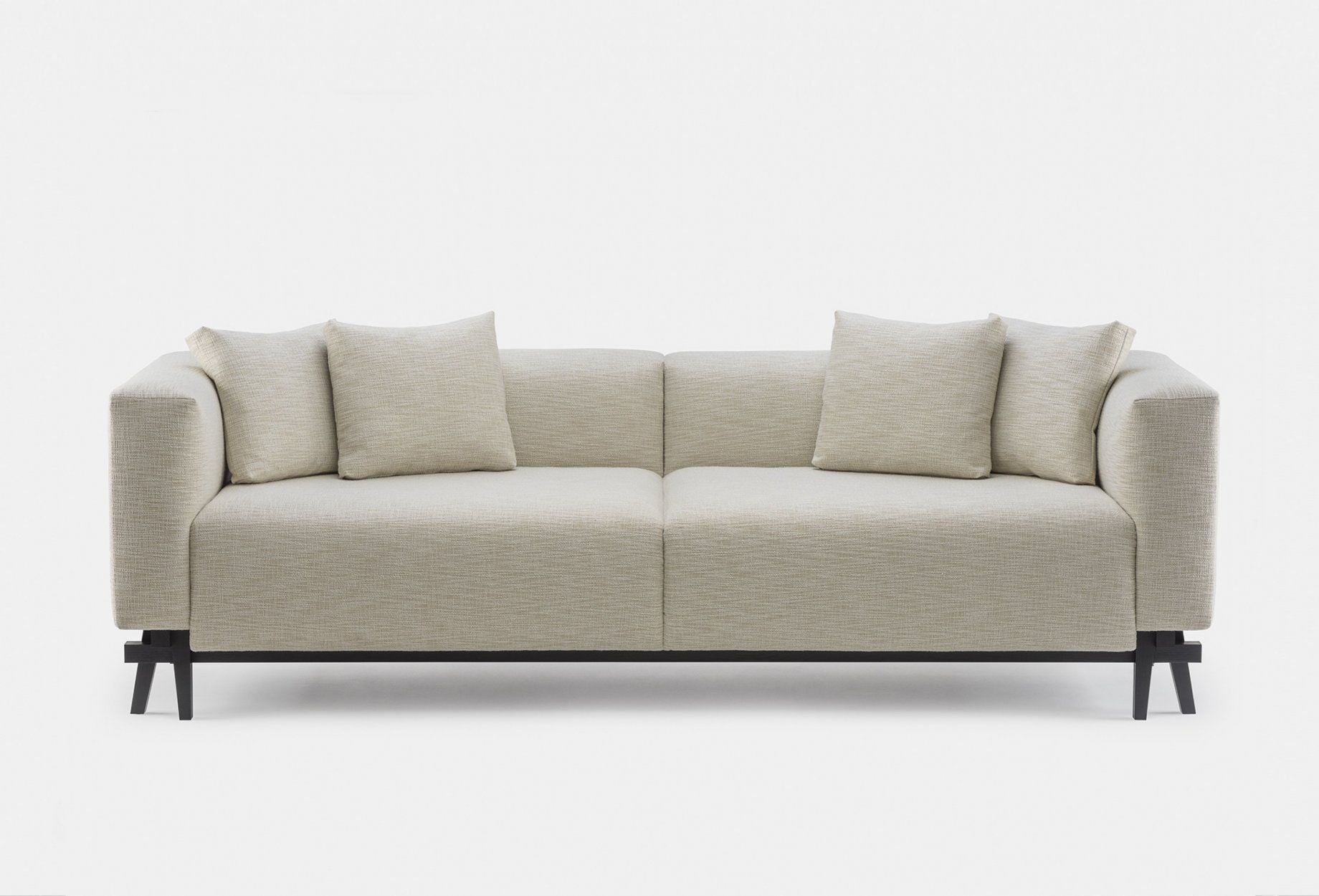 788 Sofa Eight By Neri Hu In Black Stained Ash And Fabric  Frontweb 1840X1250