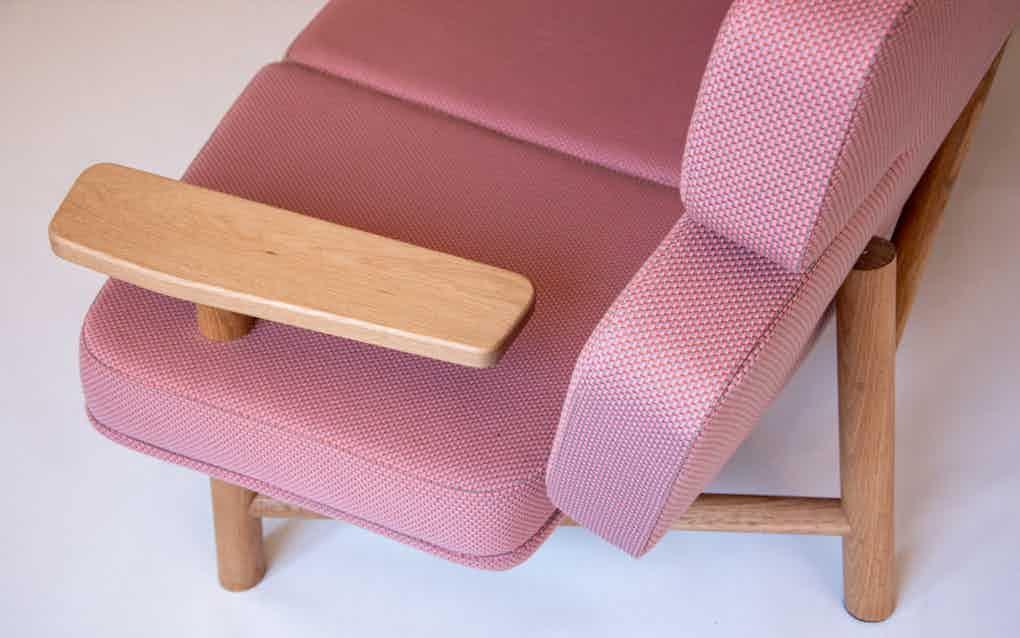 Scp furniture sonar sofa arm detail haute living