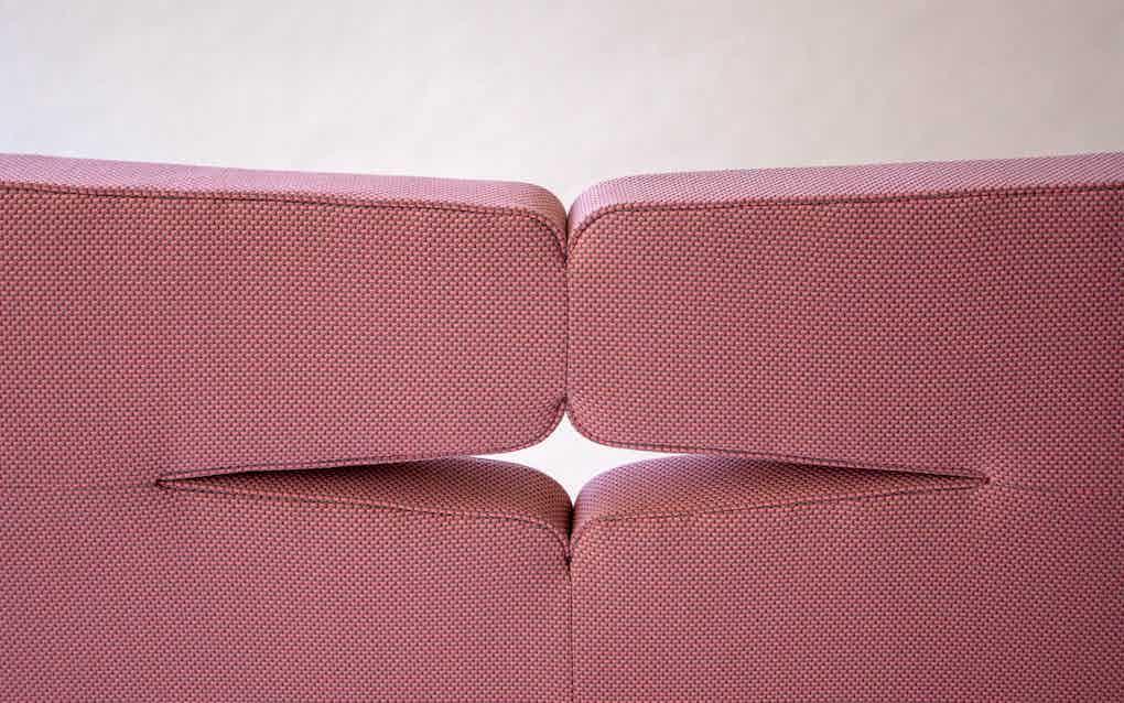 Scp furniture sonar sofa back detail haute living