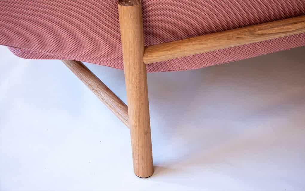 Scp furniture sonar sofa leg detail haute living
