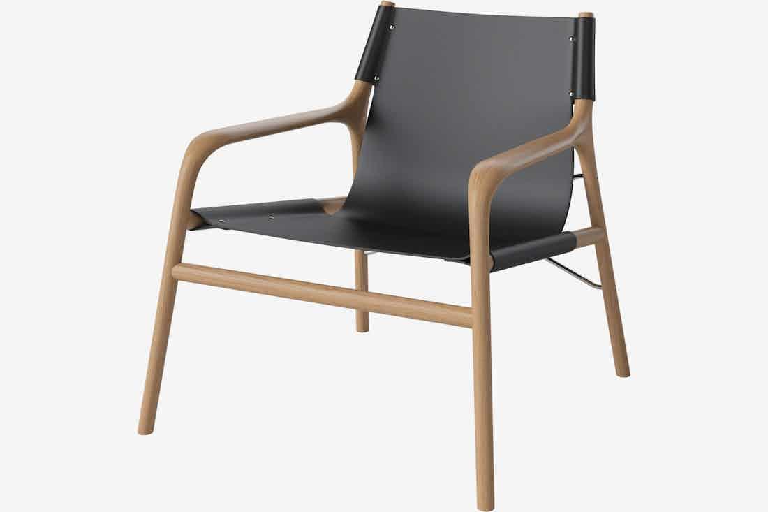 Bolia soul lounge chair oiled oak haute living