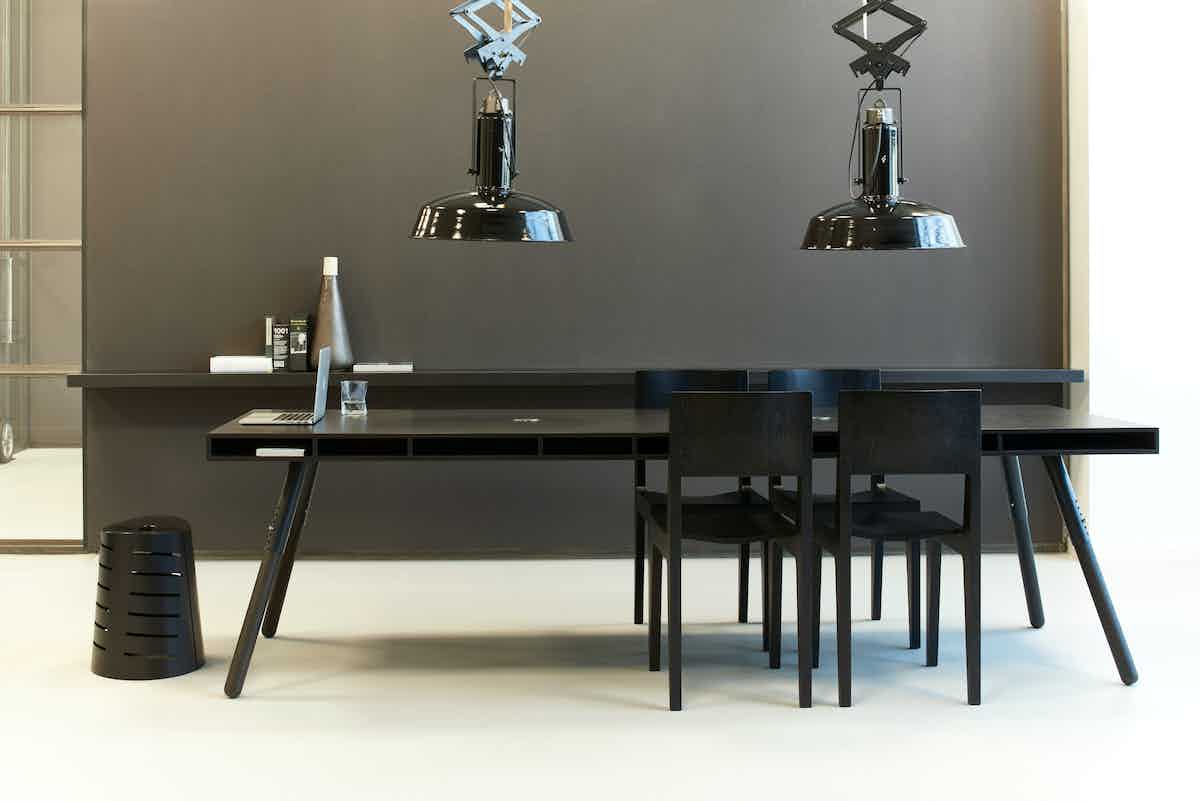 Spectrum furniture black phill table institu haute living