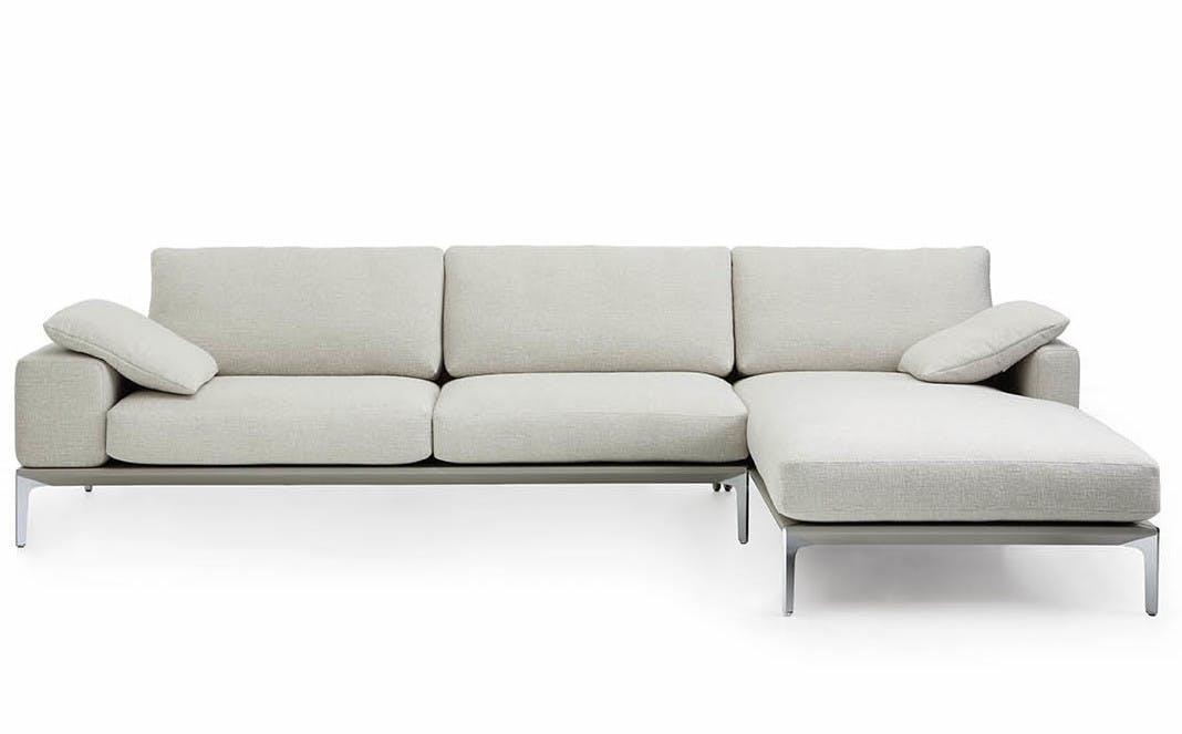 Jab Anstoetz White Spirit Modular Sofa Front Haute Living