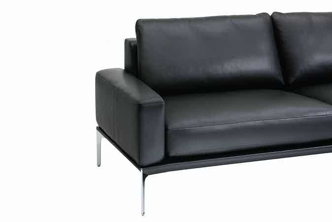 Jab Anstoetz Black Leather Spirit Sofa Side Detail Haute Living