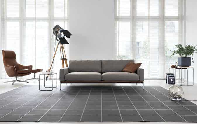 Jab Anstoetz Grey Spirit Sofa Front Insitu Haute Living