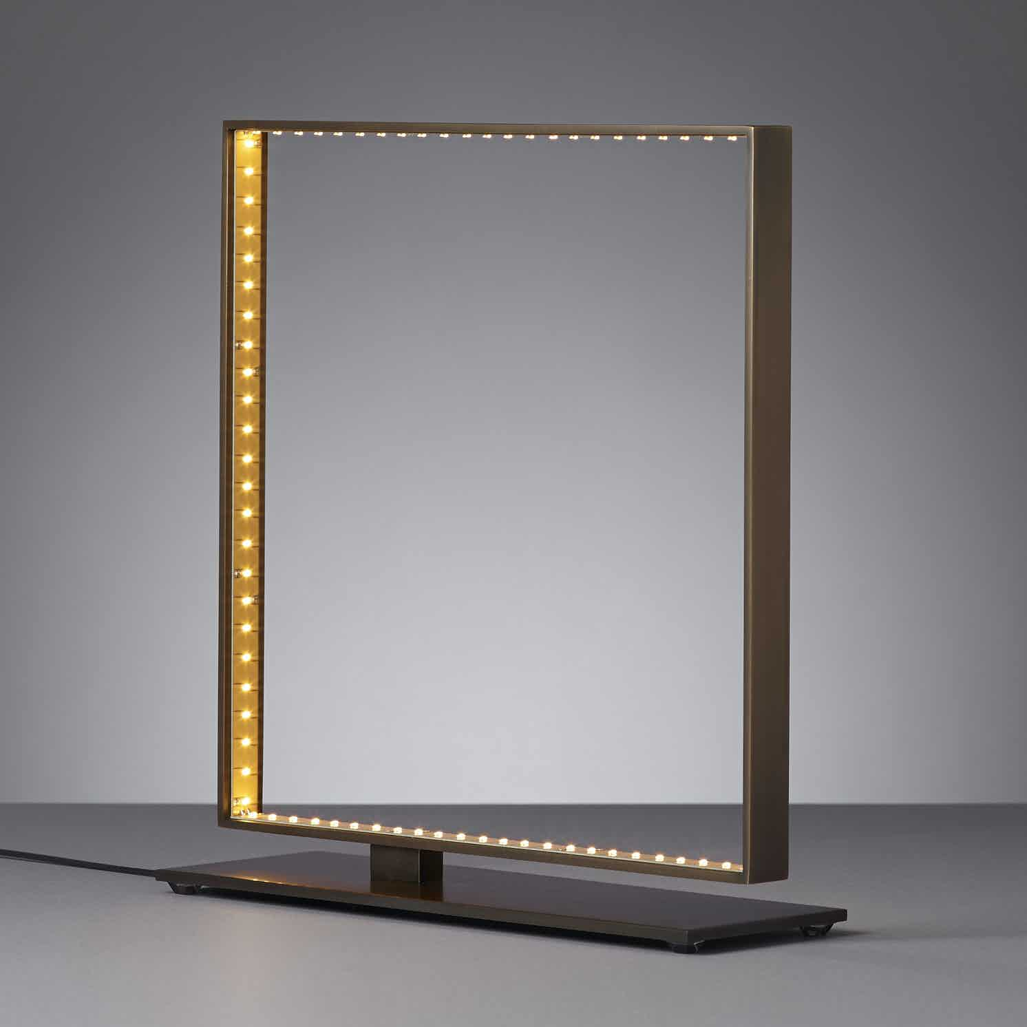 Le deun luminaires square table lamp bronze 34 haute living 200130 201257