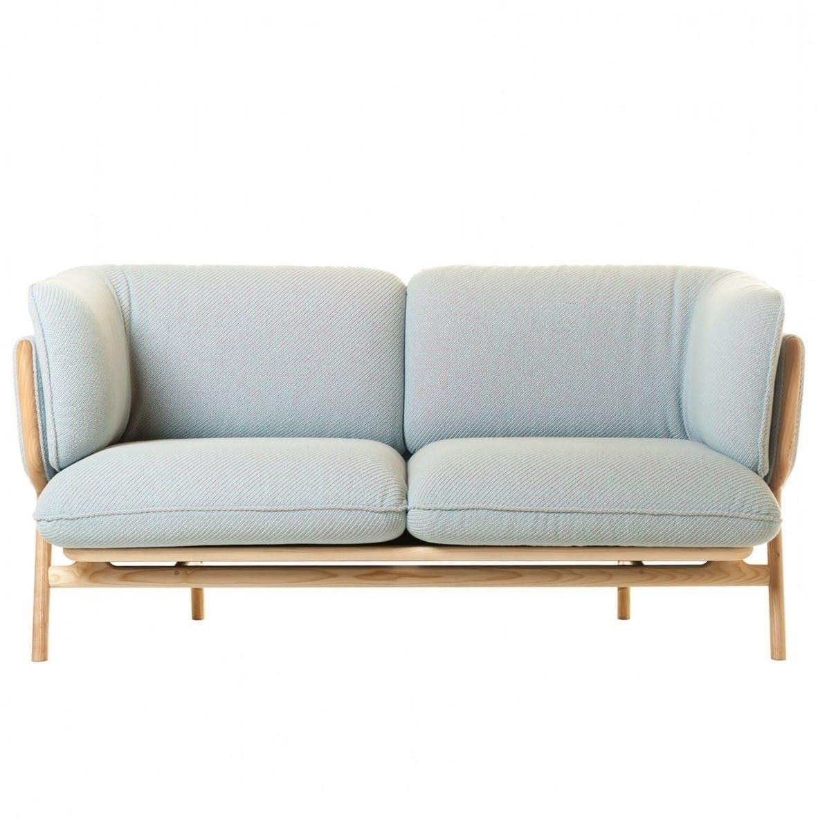 De La Espada Nichetto Stanley Sofa 2 Seater Blue Haute Living
