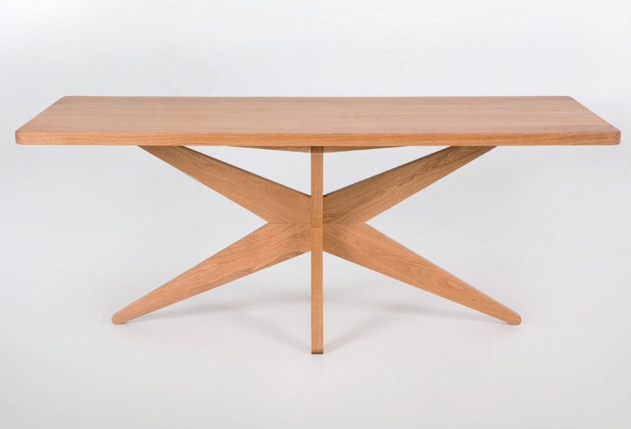 De La Espada Autoban Starfish Table Oak Front Haute Living
