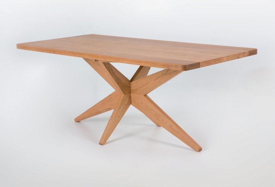 De La Espada Autoban Starfish Table Oak Side Haute Living