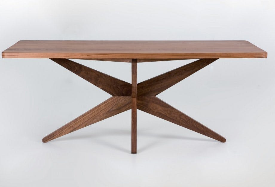 De La Espada Autoban Starfish Table Walnut Front Haute Living