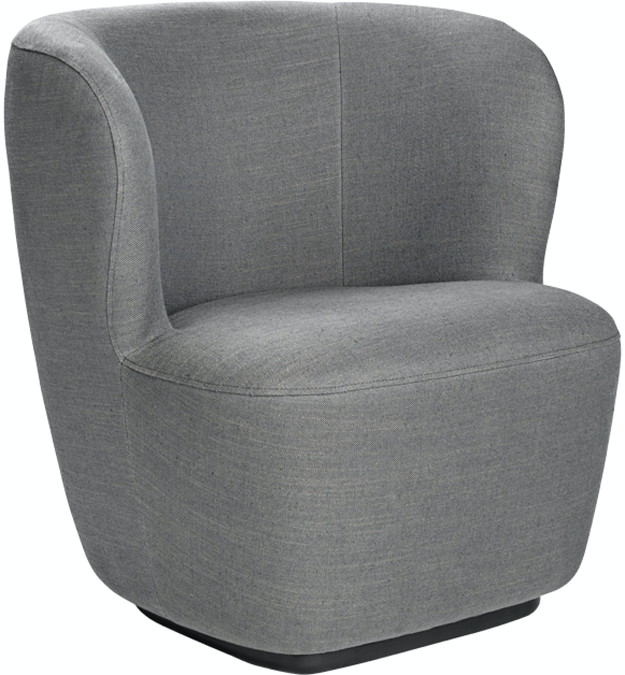 Stay Loungechair 75 Swivel Chambray 030 Angle Image