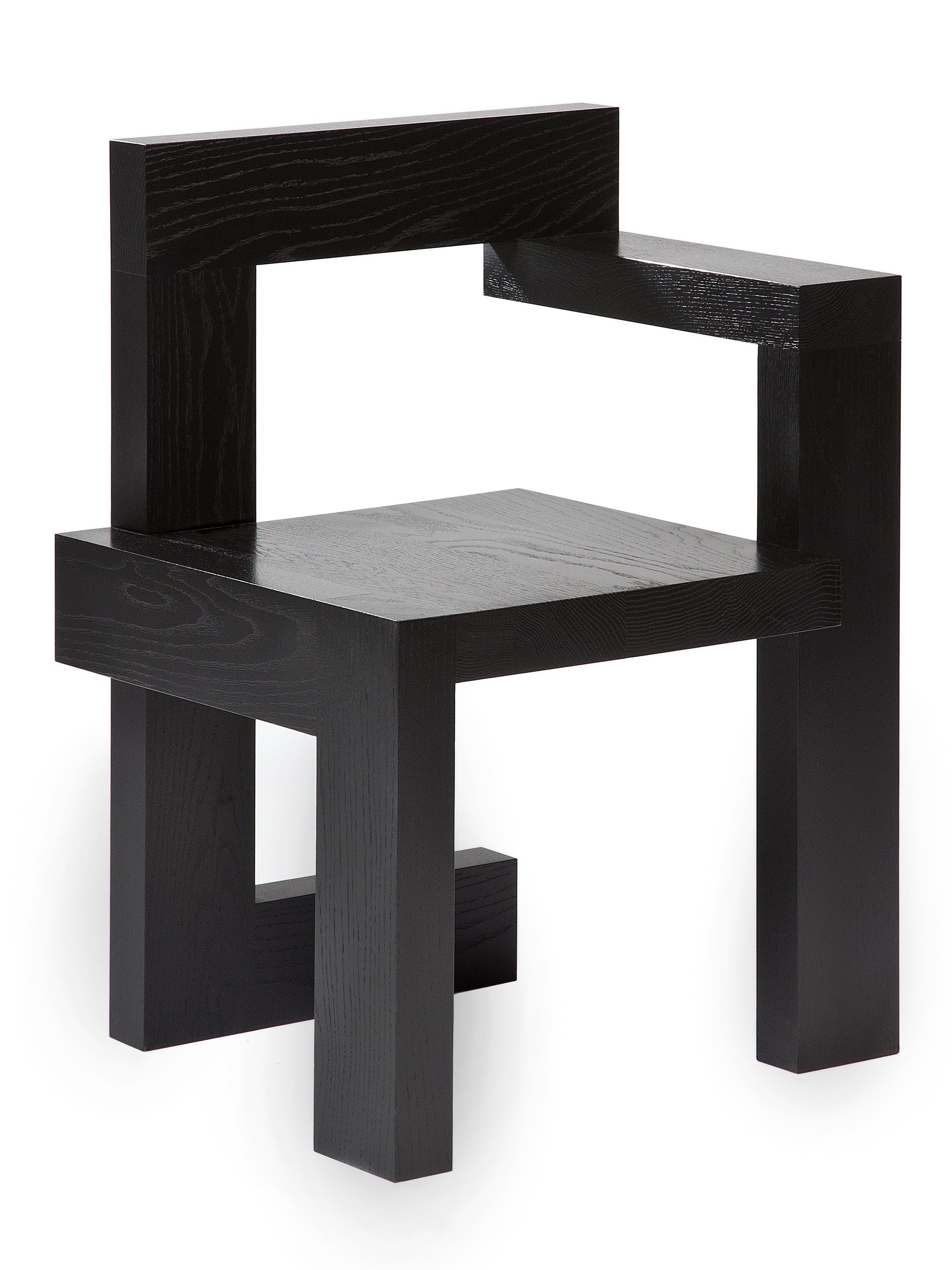 Rietveld Steltman Oak Black Front Corner