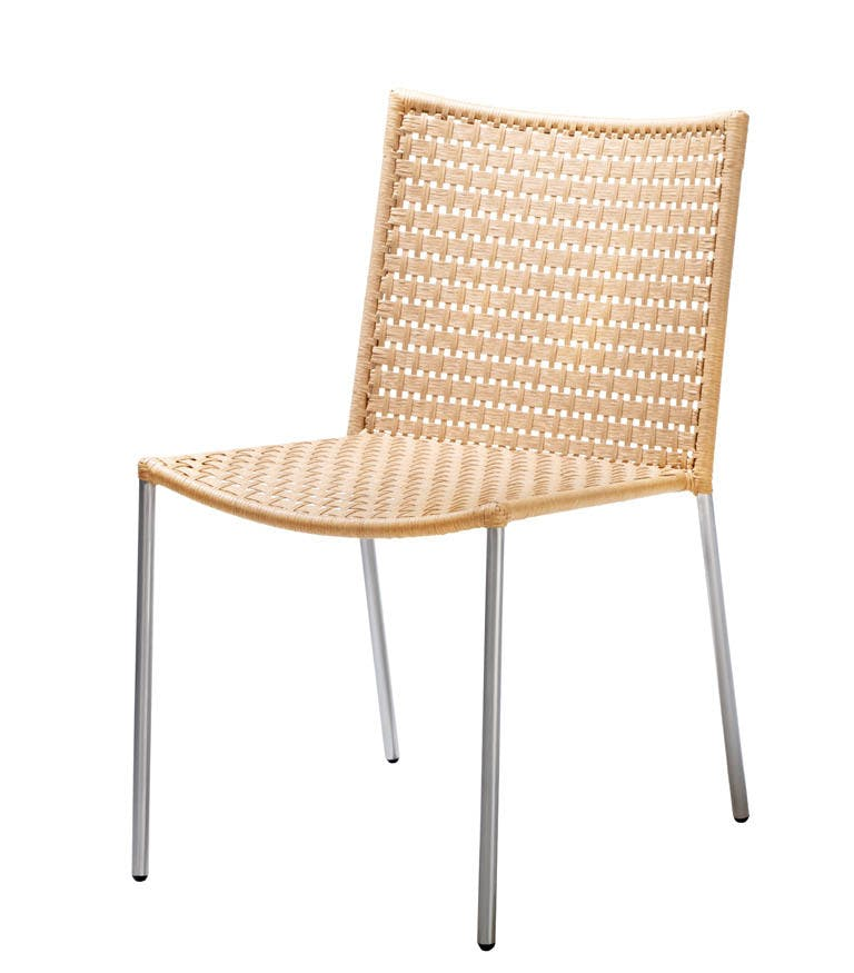 Straw Flat Weave Natrual Chair