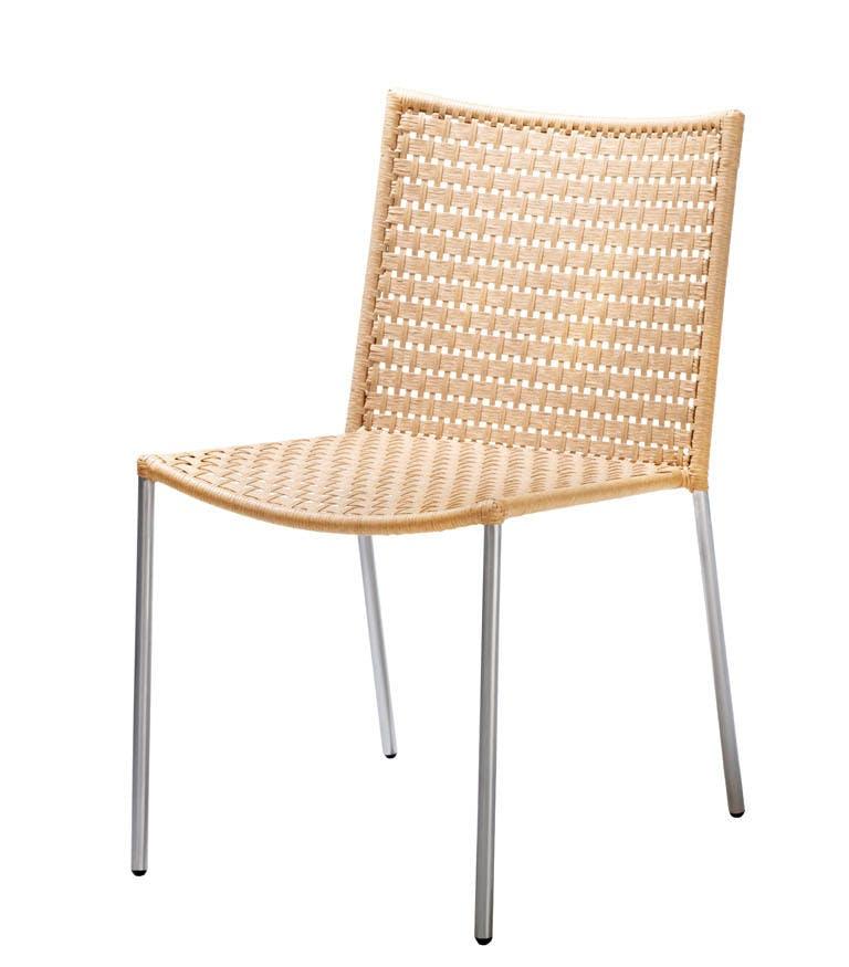 Straw Flat Weave Natrual Chair