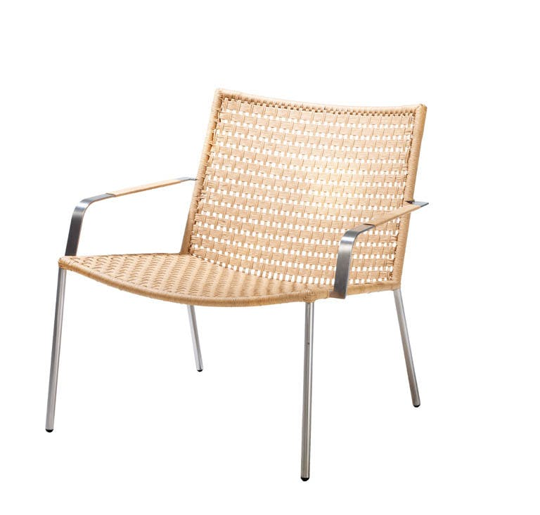 Straw Flat Weave Lounge Chair Natural 3
