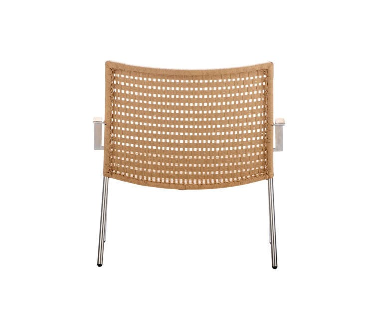 Straw Flat Weave Lounge Chair Natural