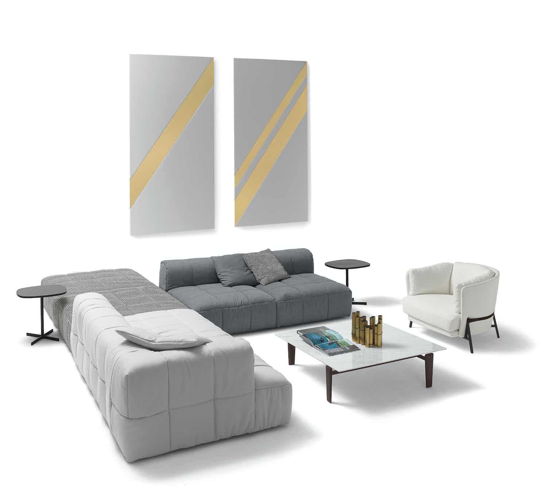Arflex Grey Strips Modular Sofa Assorted Insitu Haute Living
