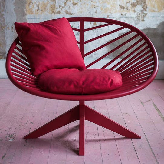 Articles-furniture-red-superstructure-lounge-chair-front-haute-living