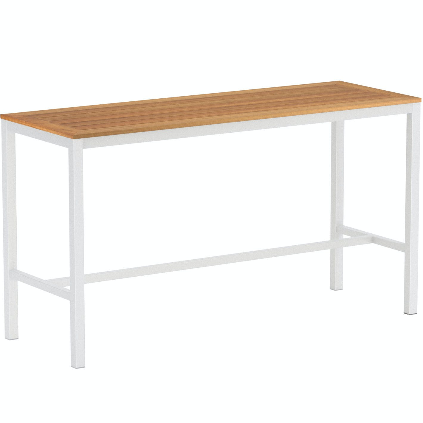 Royal Botania Taboela Long Bar Table Wood White Haute Living