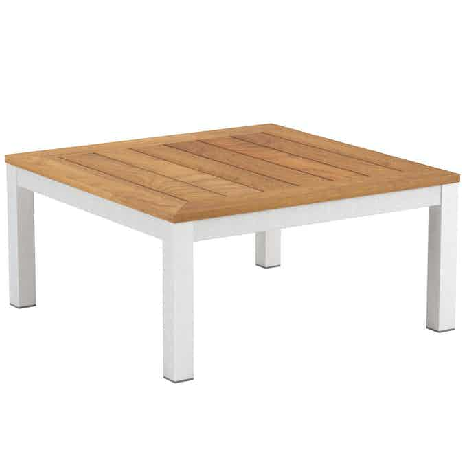 Royal Botania Taboela Low Table White Teak Haute Living
