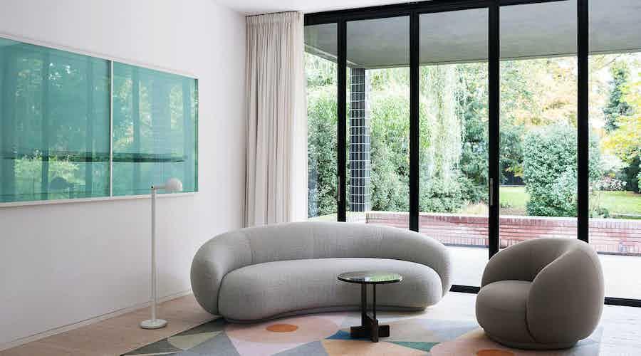 Tacchini julep sofa grey insitu haute living