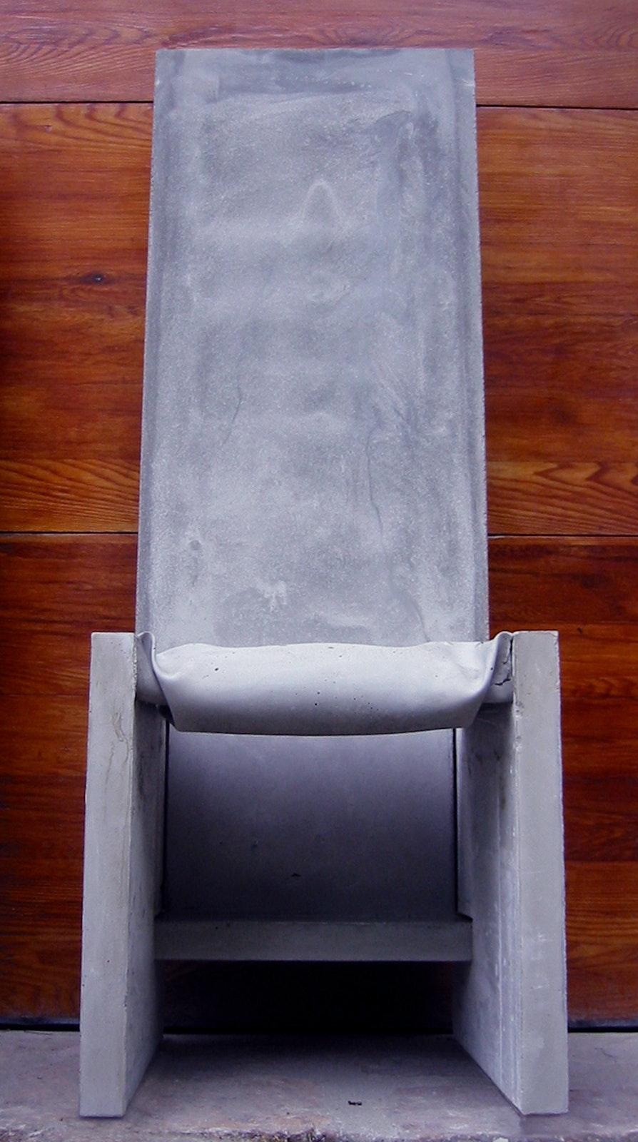 Concrete Tall Chair 1
