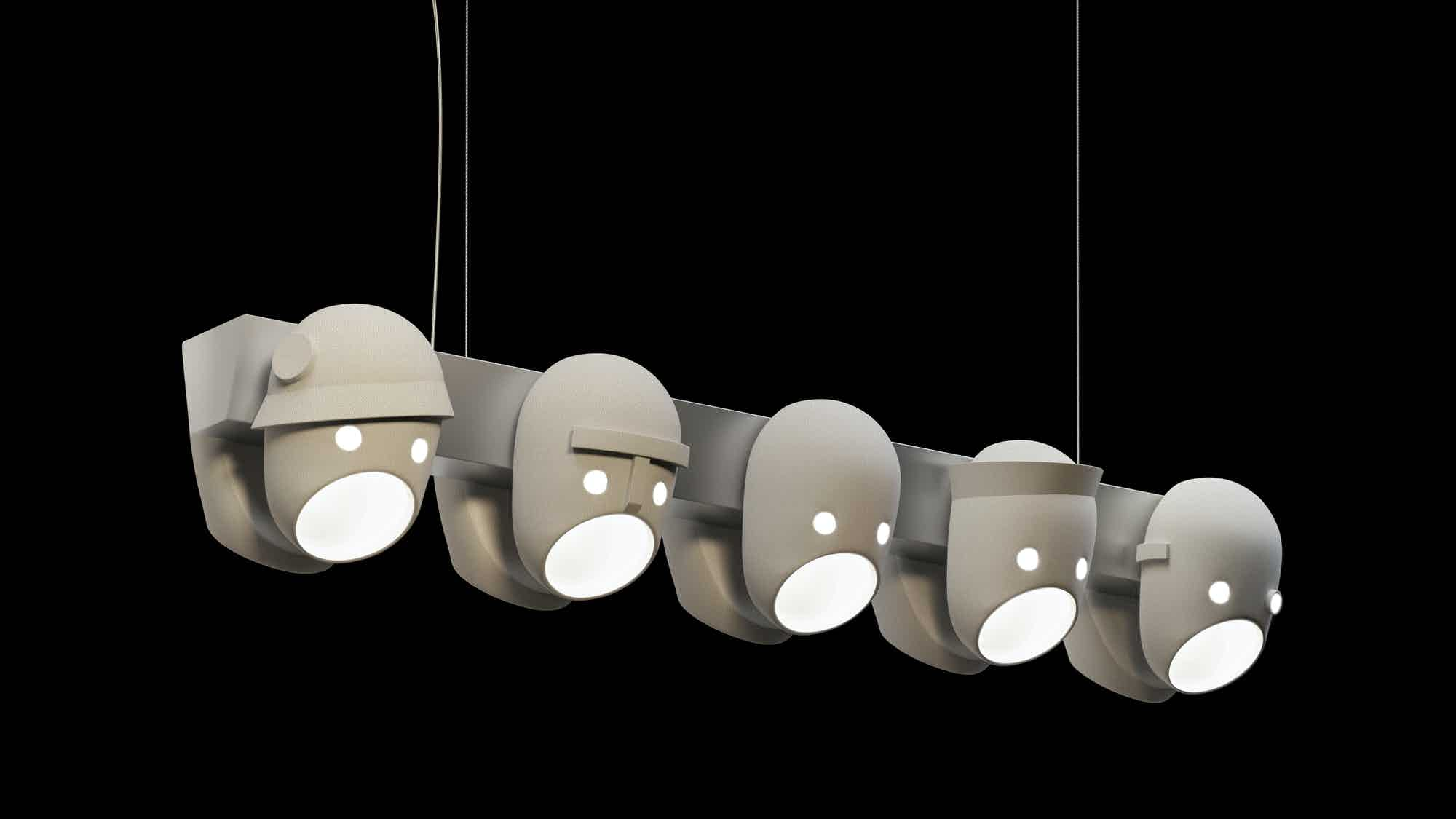 The party hanging light by moooi at haute living