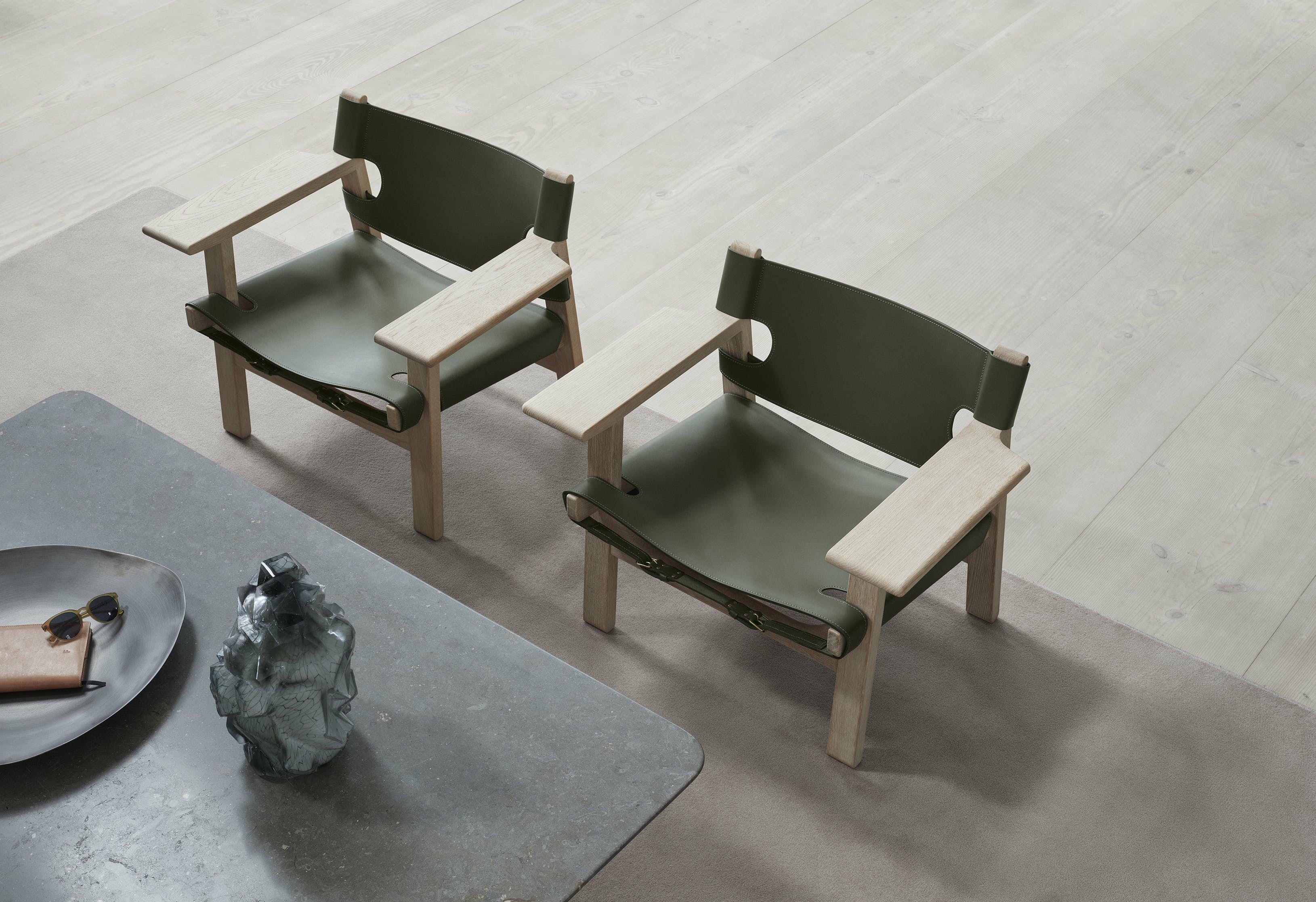 Fredericia Furniture Spanish Chair Insitu Green Haute Living
