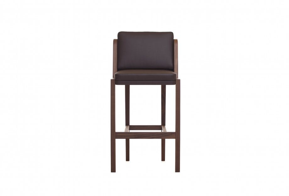 Throne Barstool By Autoban Leather Frontweb 3