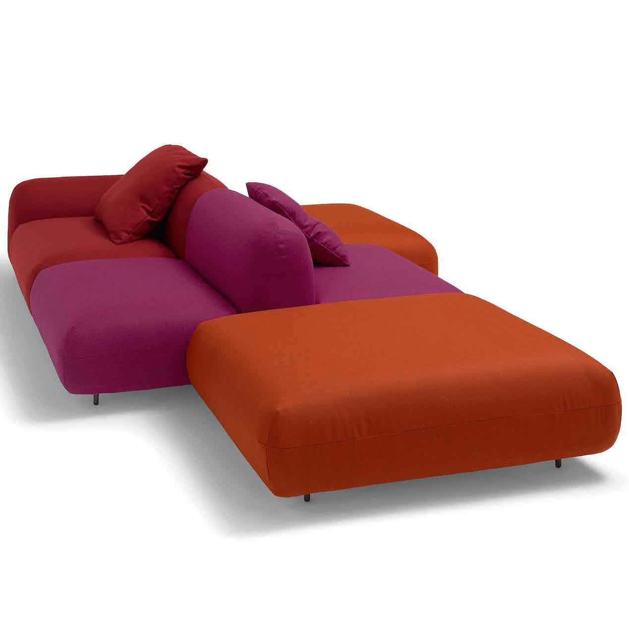Arflex-red-tones-tokio-modular-sofa-haute-living