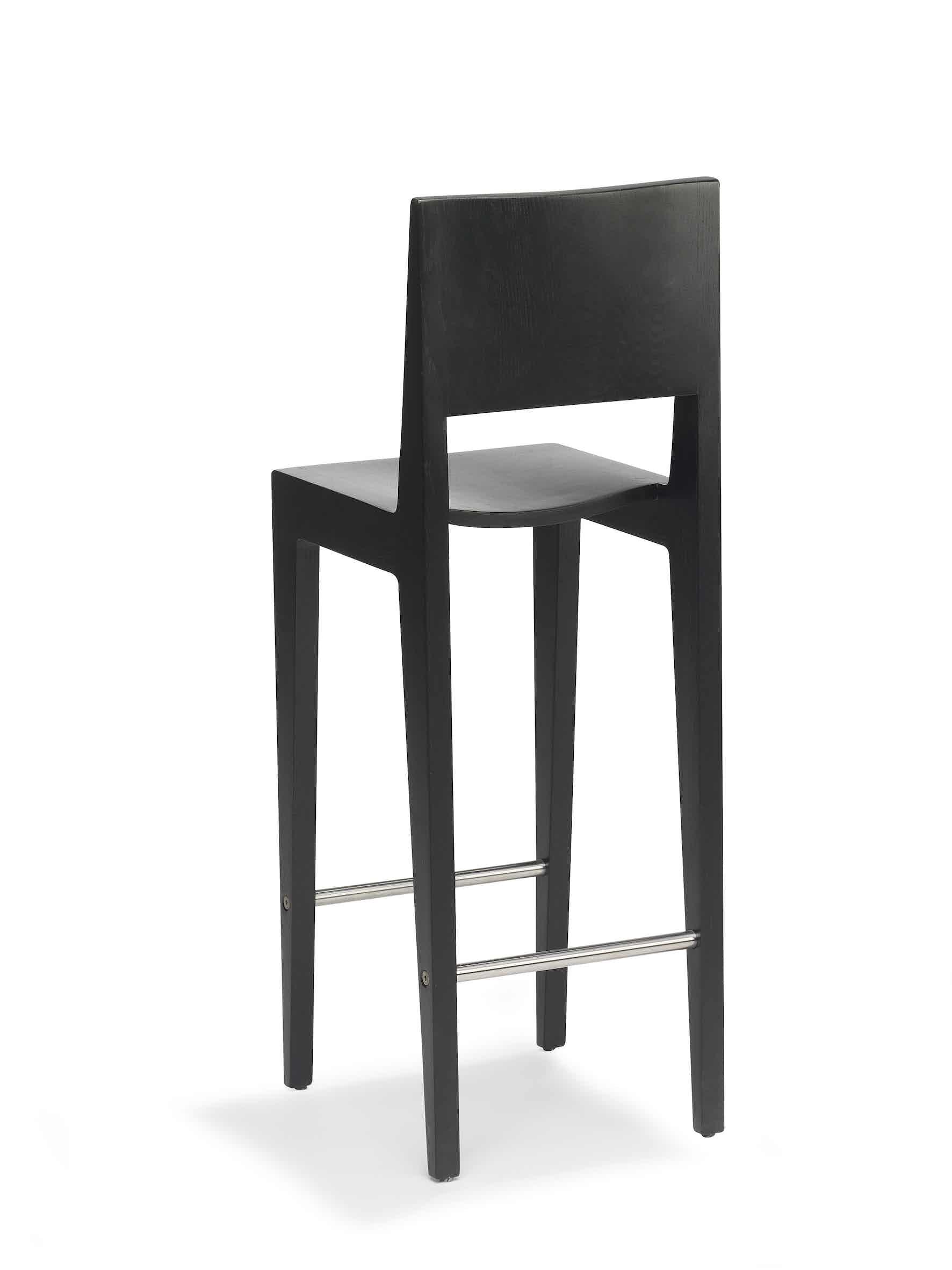 Spectrum Furniture Black Back Toos Stool Haute Living