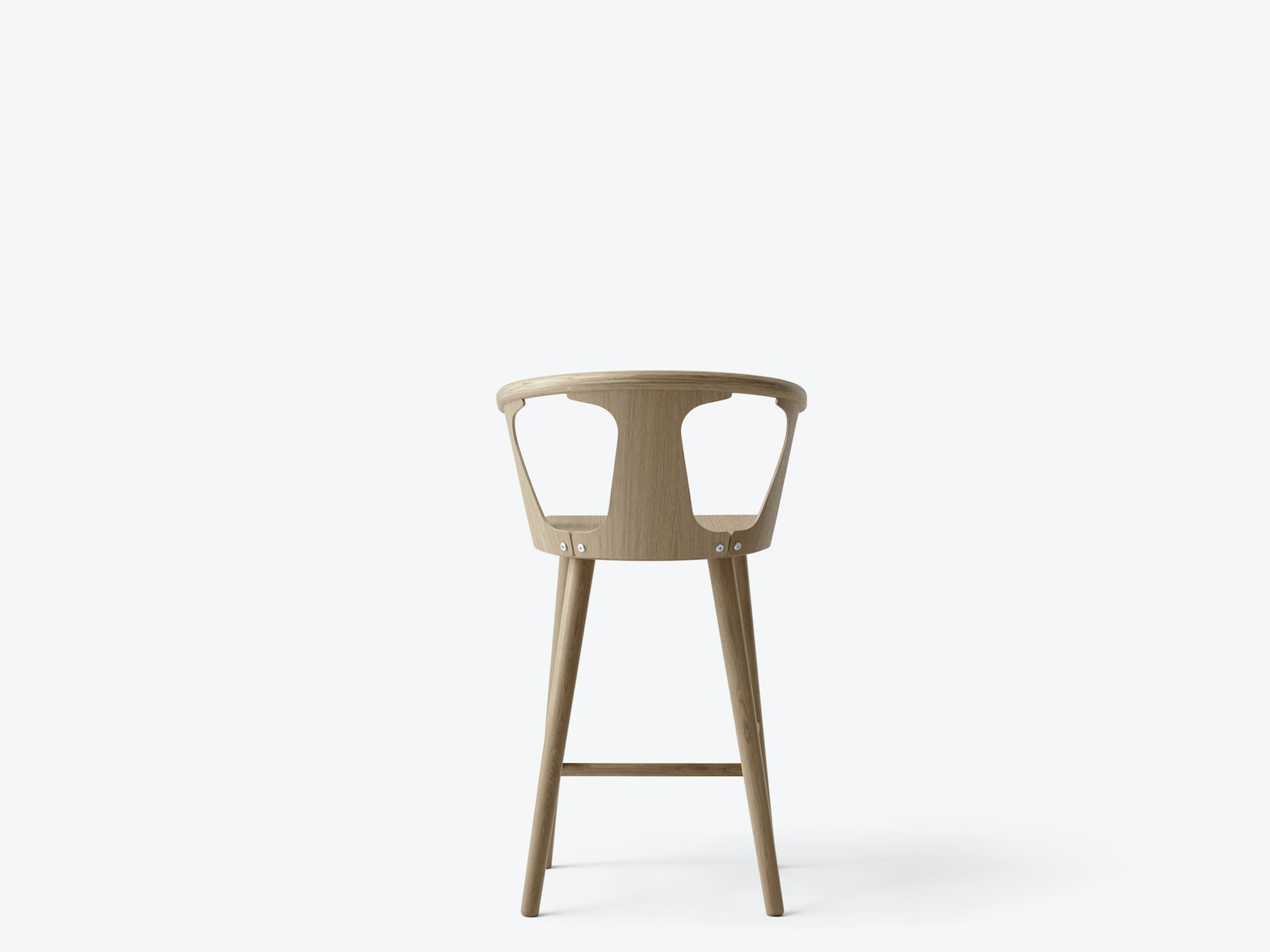 In Between Barstool Sk7 White Oiled Front