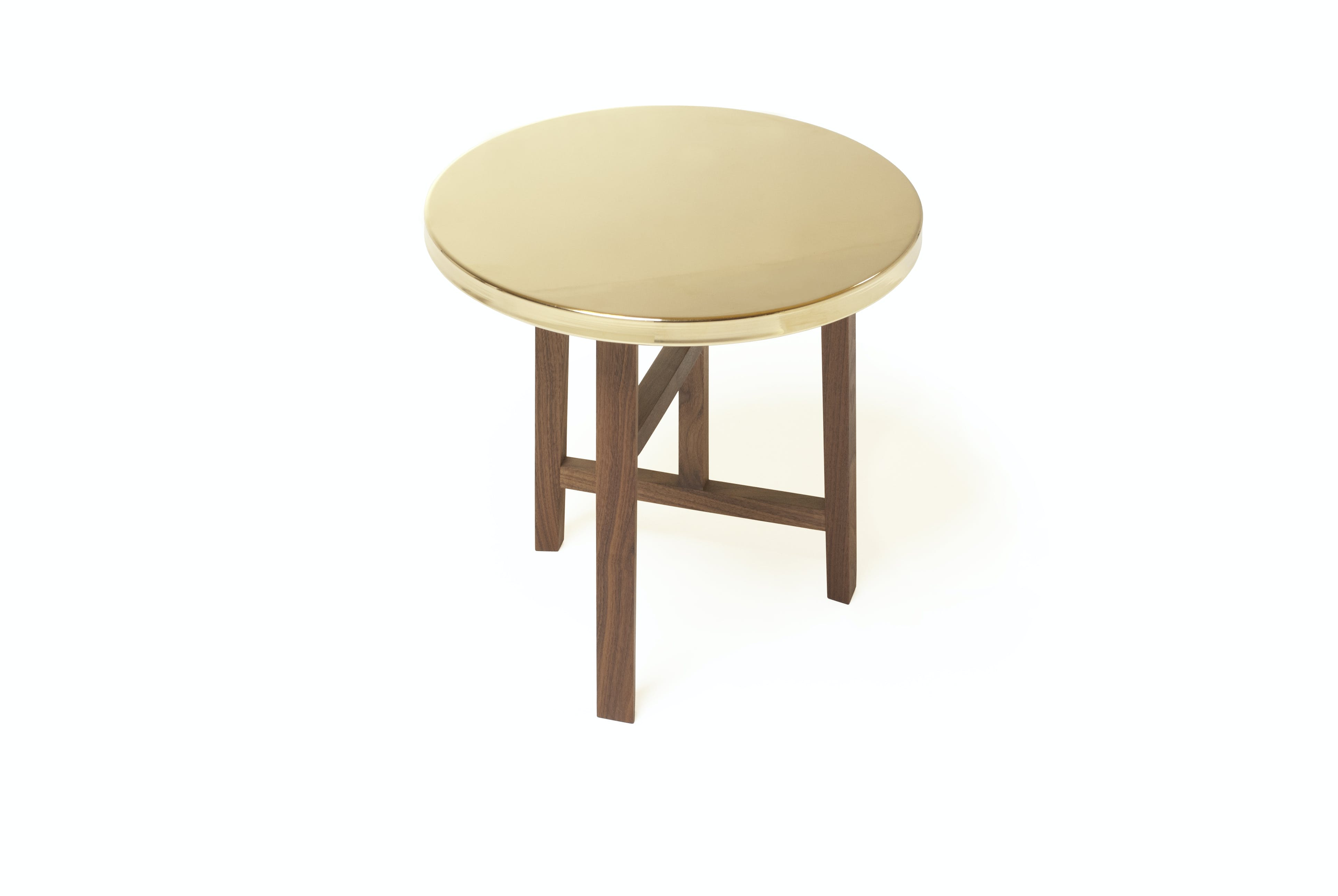 Trio Side Table With Brass Top By Neri And Hu