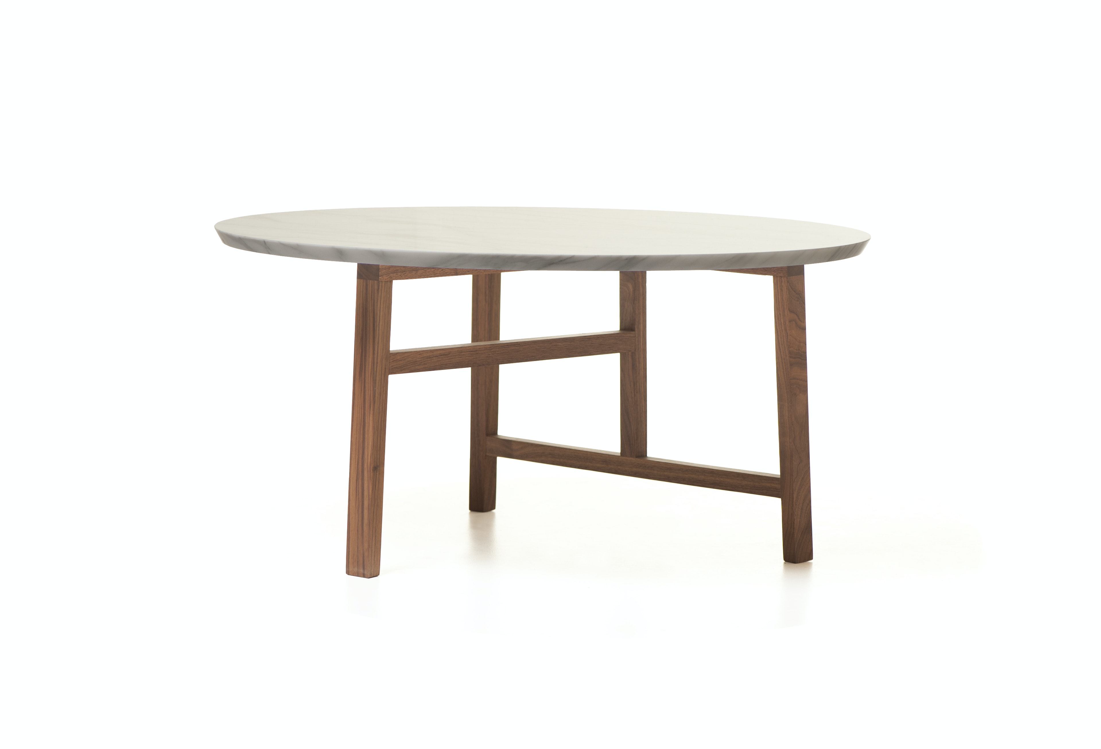 Trio Round Coffee Table With Marble Top By Neri And Hu