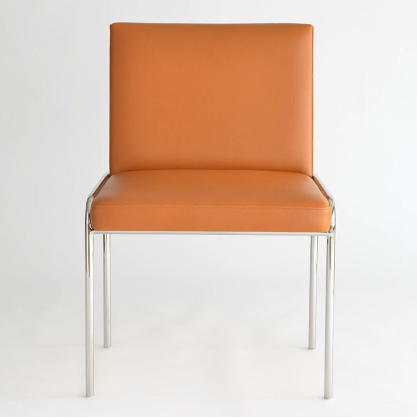 Phase Design Trolley Side Chair Orange Front Haute Living