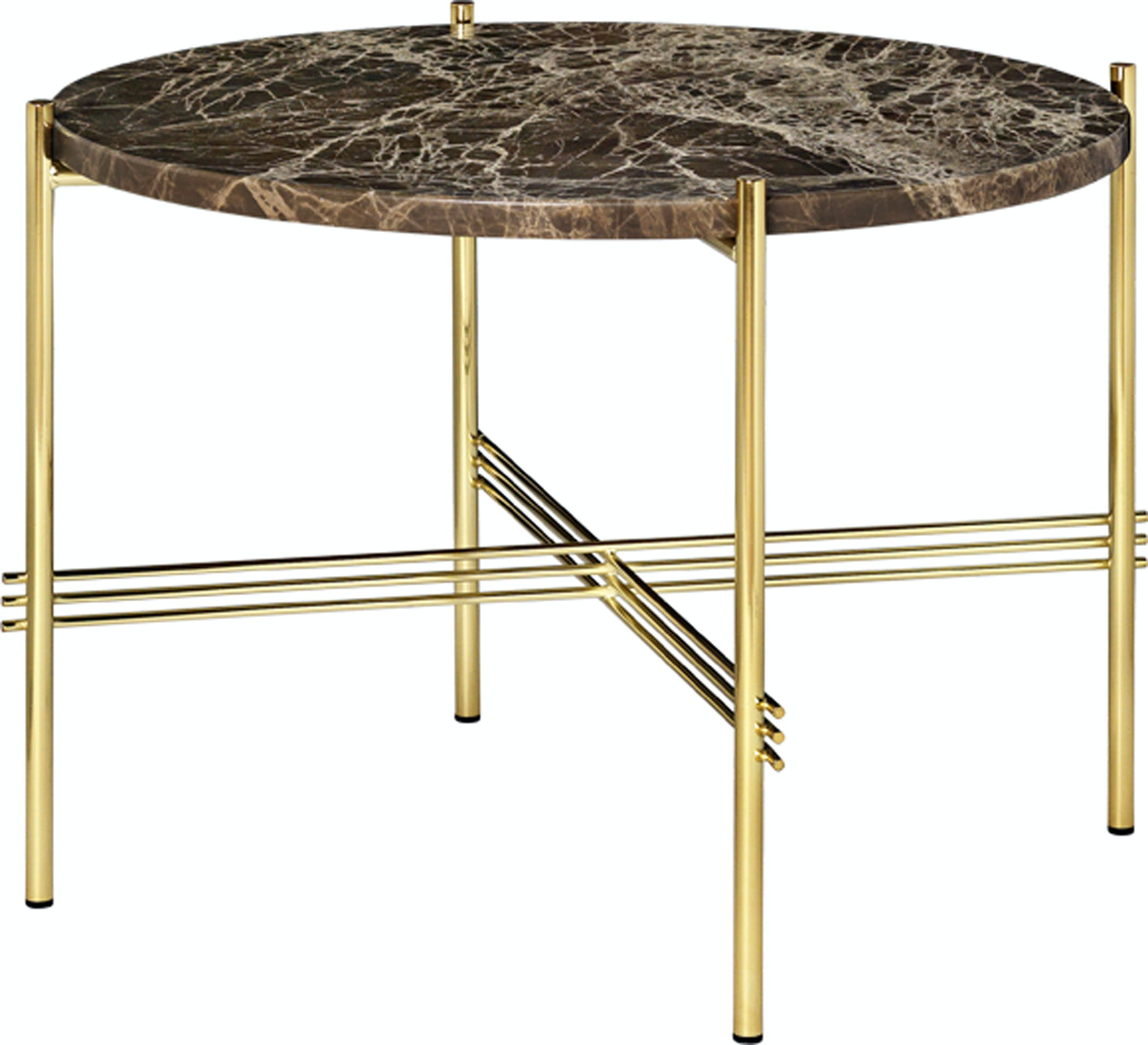 Ts Table Marble 55 Brass Brown Image