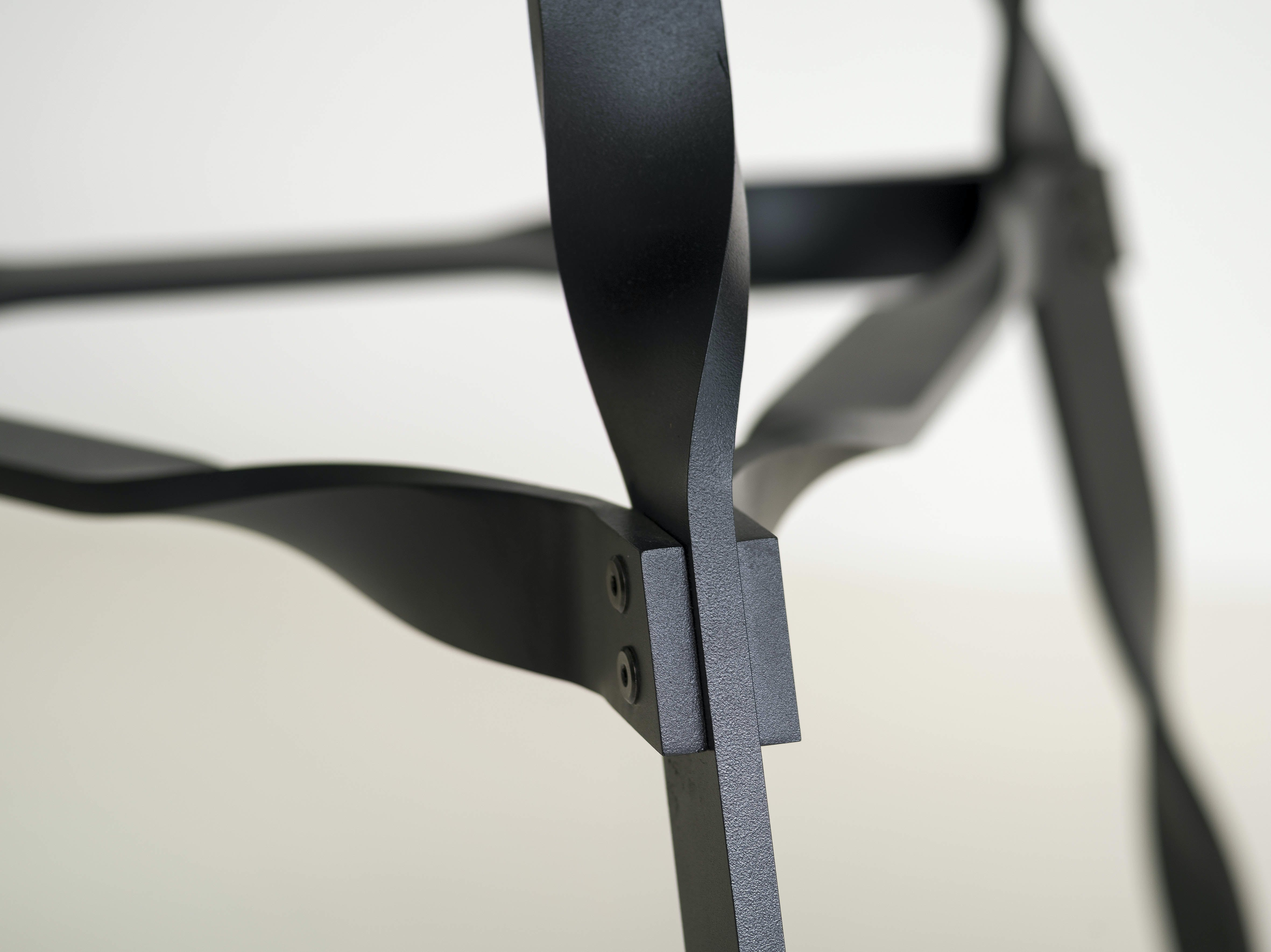 Functionals Twist Glass Dining Table Detail Haute Living