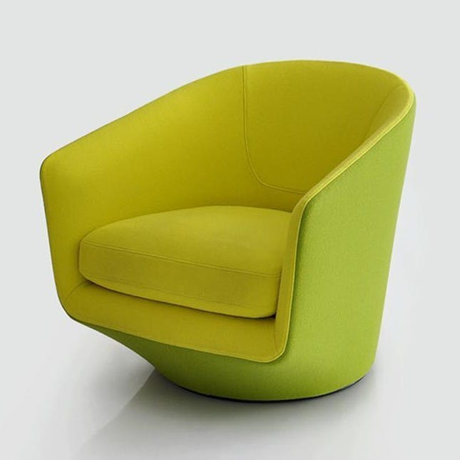Bensen Green U Turn Chair Front Angle