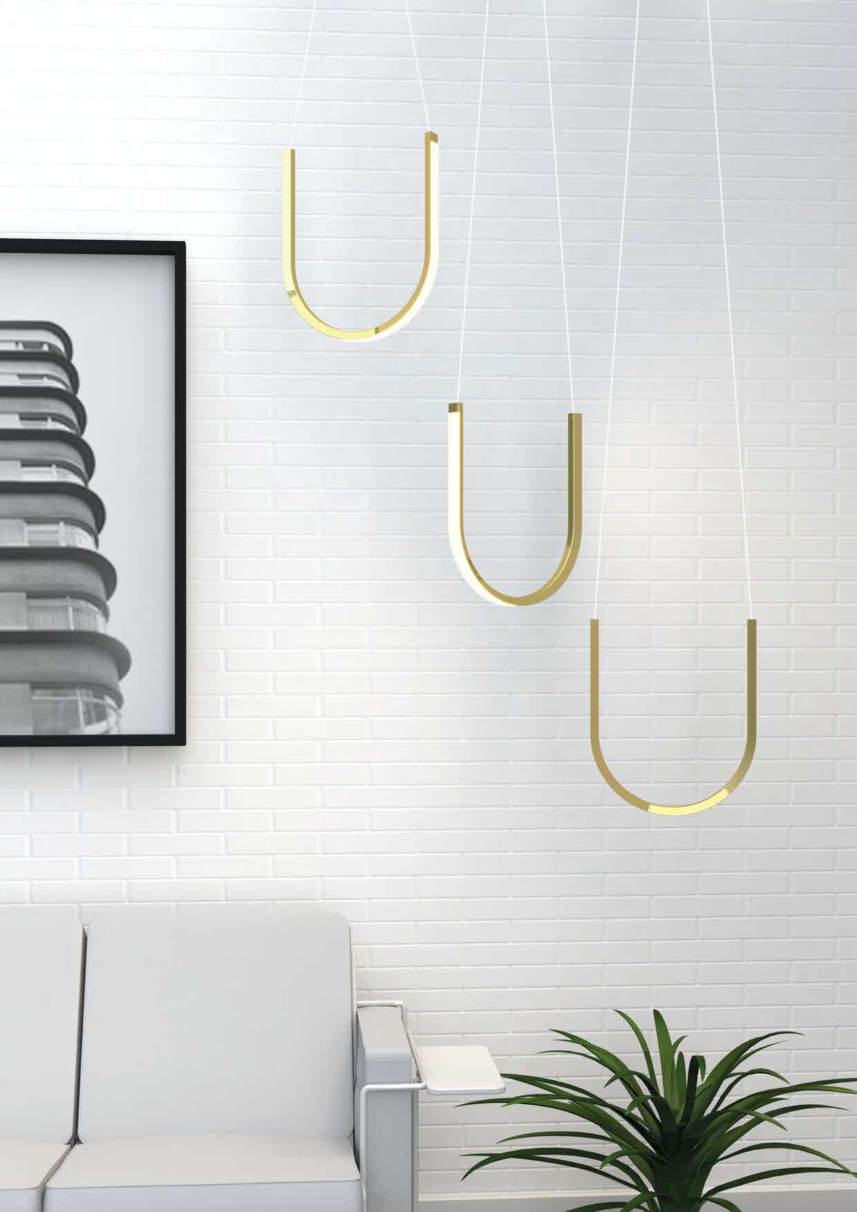 Arpel lighting u1 brass insitu haute living