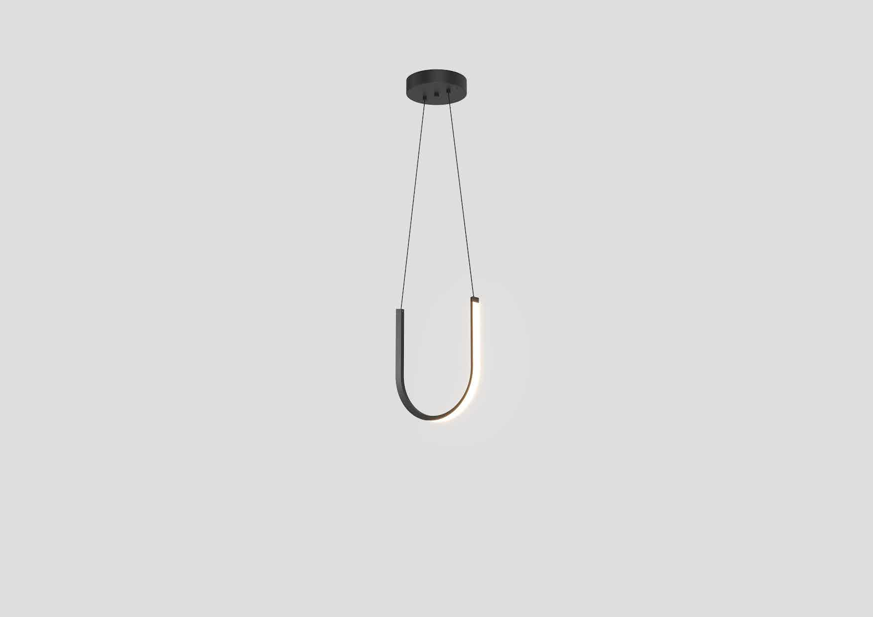 Arpel lighting u1 pendant black hanging haute living