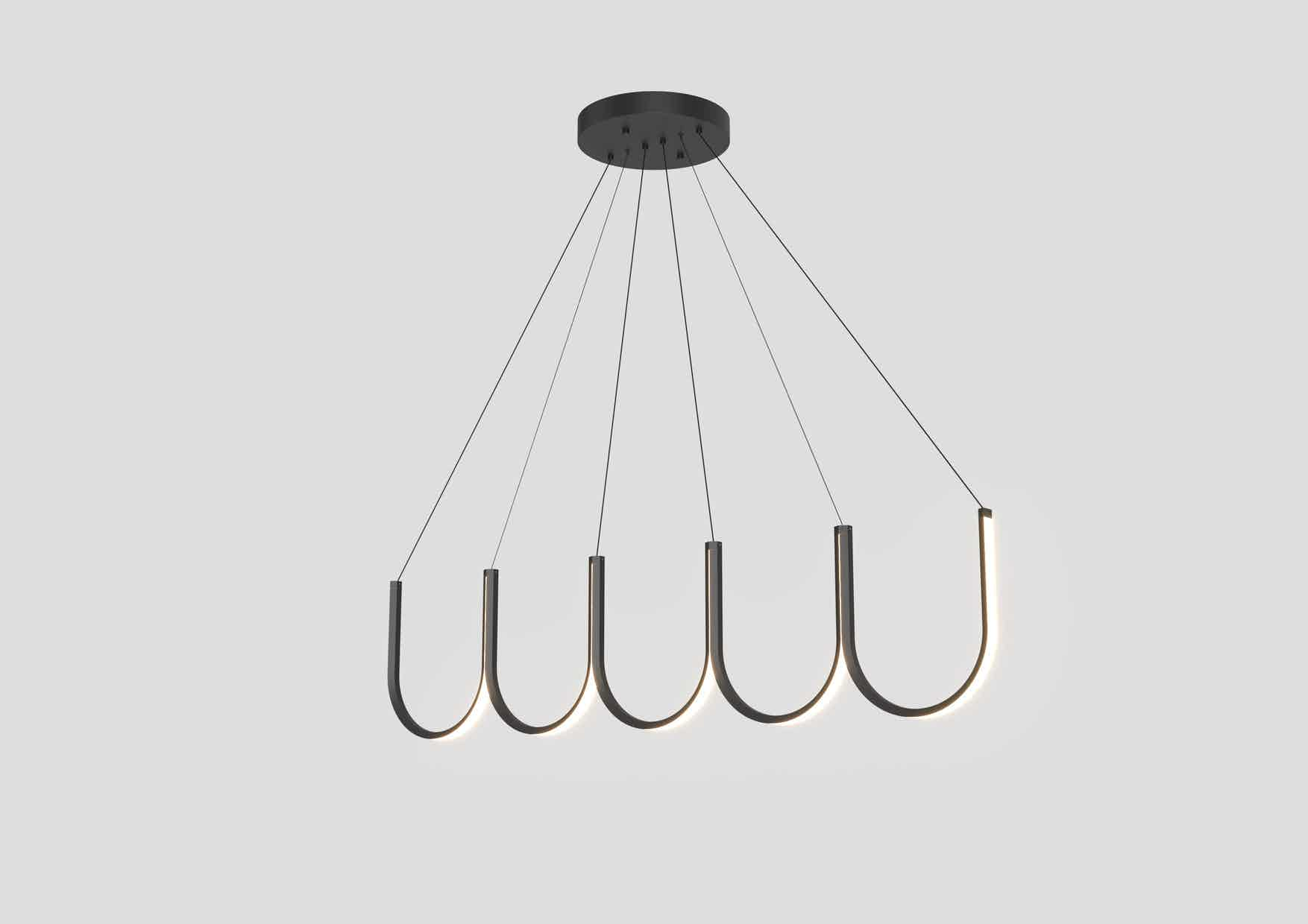 Arpel lighting black u5 pendant haute living
