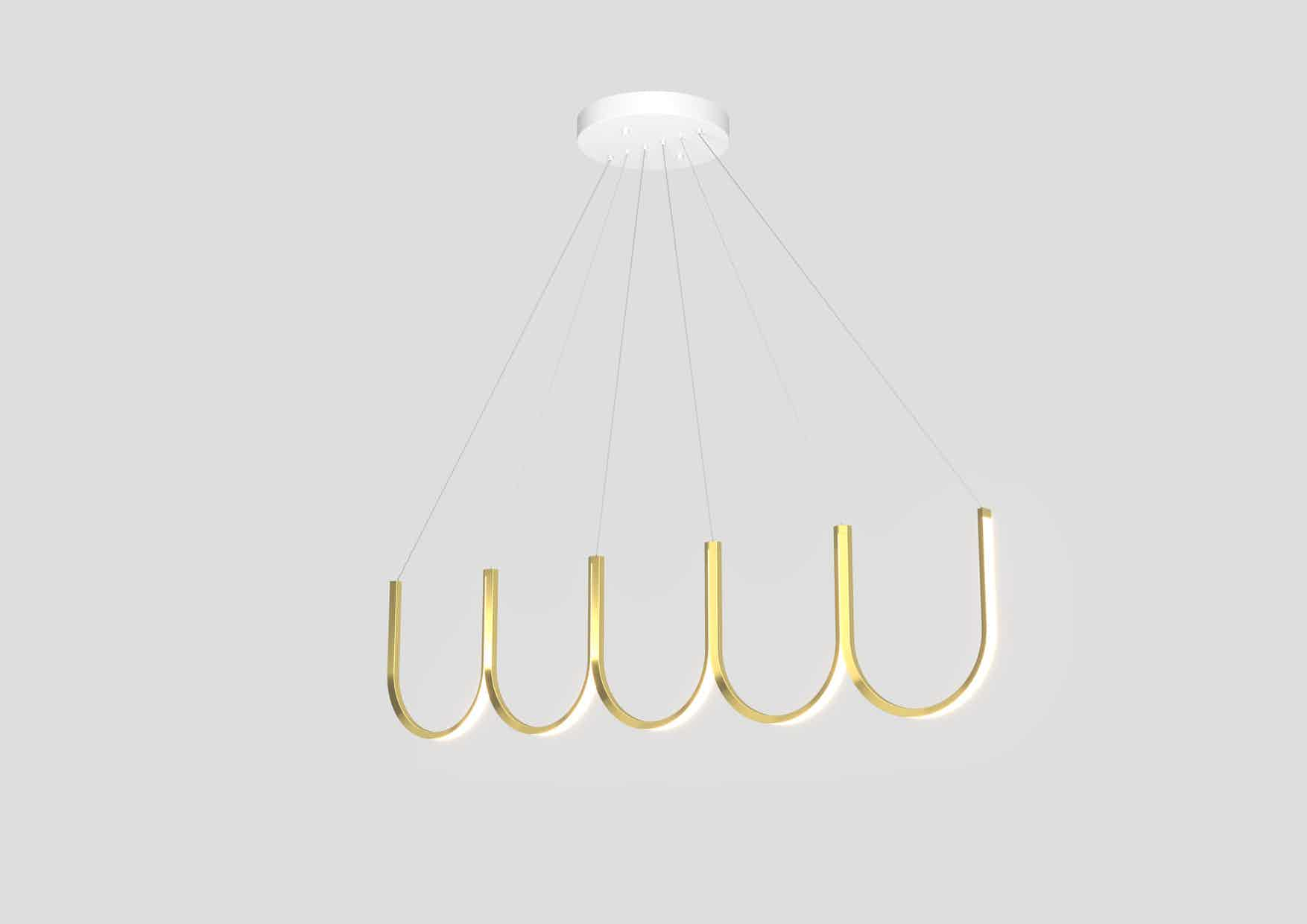 Arpel lighting brass u5 pendant haute living