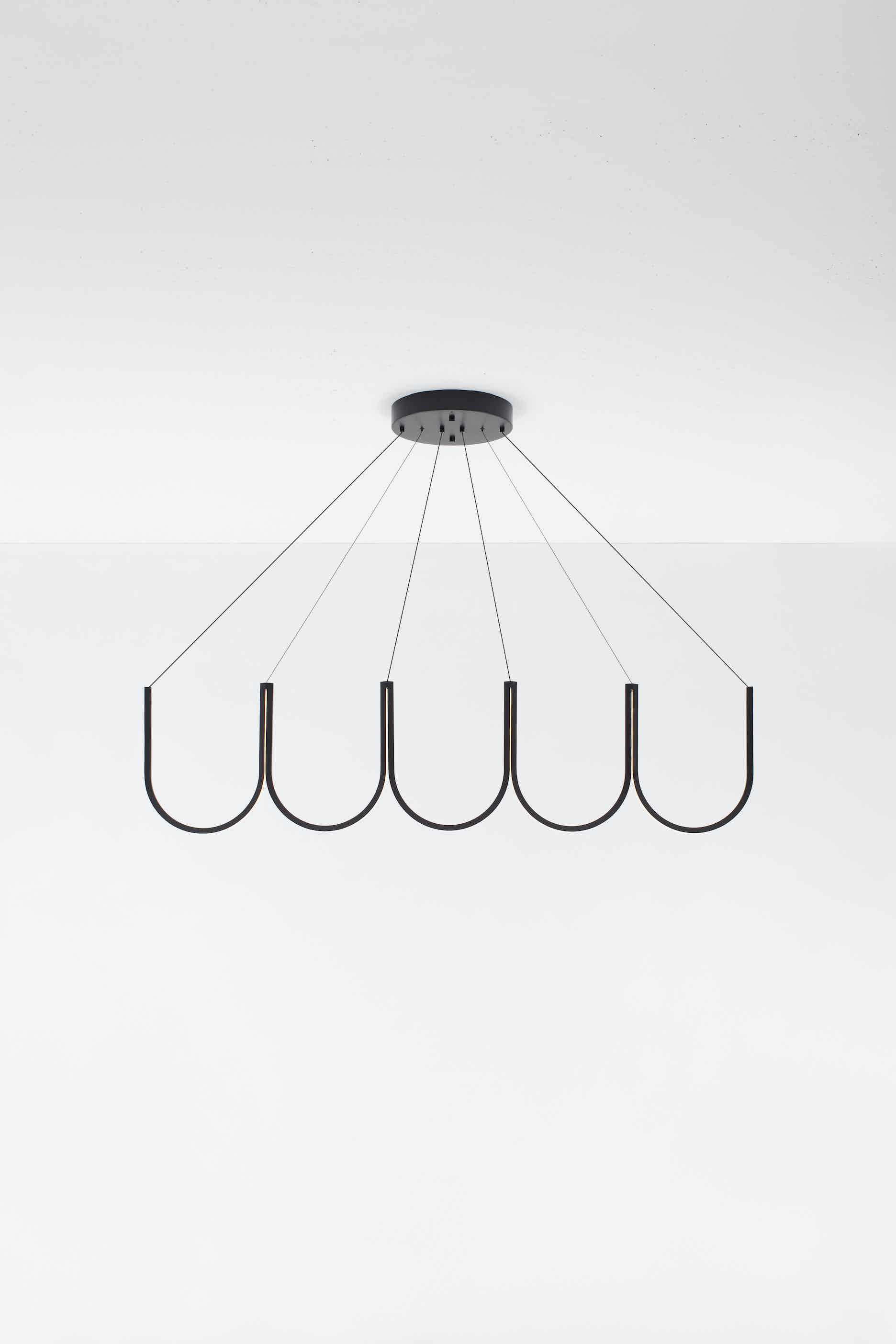 Arpel lighting u5 pendant black front haute living