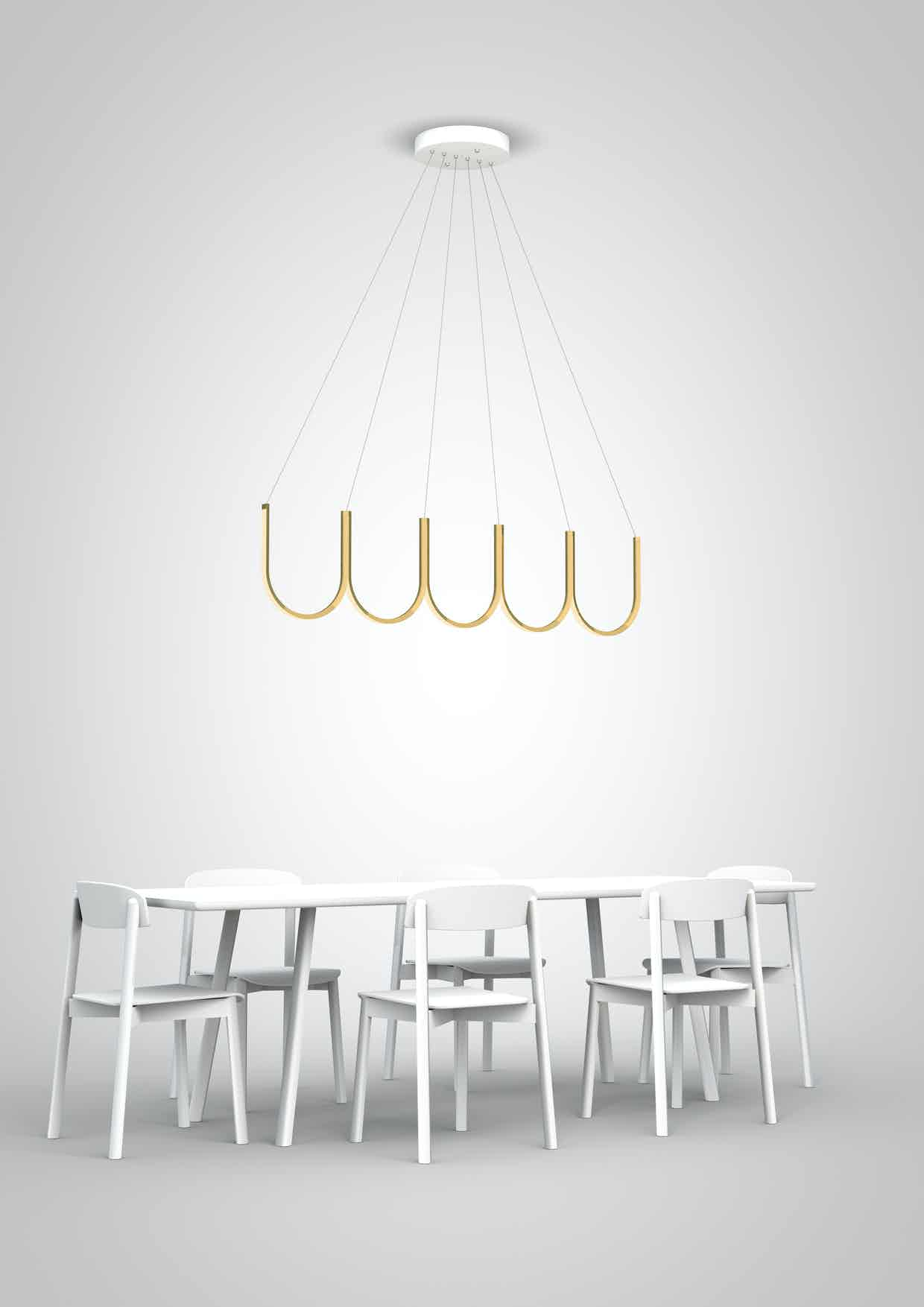 Arpel lighting u5 pendant brass insitu haute living